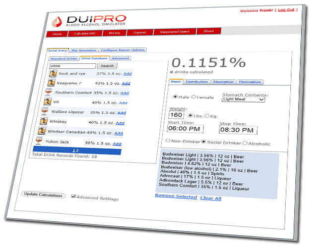 DUI Pro Graphic User Interface